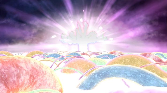 神樹様がSSR色に光っておる!