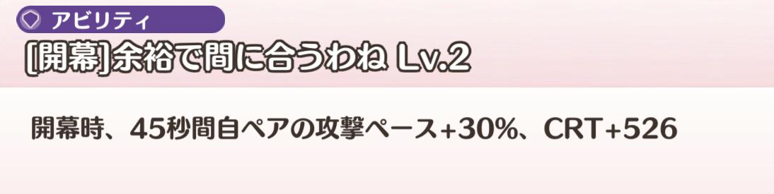 アビリティ(Lv2)